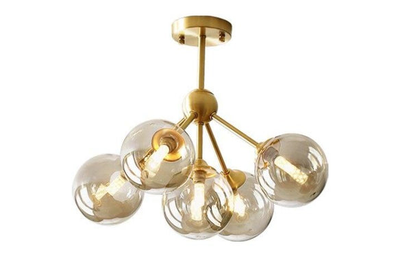 Lights of Scandinavia - Rhizome - Full copper LED chandelier. Modern lighting for dining rooms, hallways or why not inside the entrance?   Two size options -  3 heads - 5-10 5 heads - 10-15 54W 100cm wide, 100cm high, 50cm diameter 3 body color options 3 lighting color options