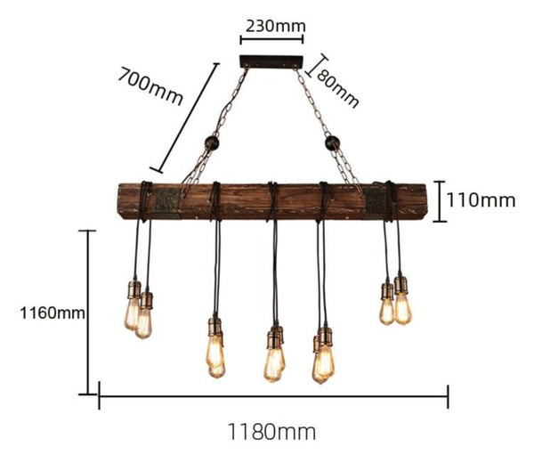 Lights of Scandinavia - Loft Bar - Loft wood industrial vintage pendant light for restaurant bedroom bar living room retro wooden hanging lamp lighting suspension  Please pay attention to the below: 1.Considering safe shipping,some of the lamps are not full assembled. But all are very easy to assemble it by yourself,any problem please contacu us 2. Some of lamps are with Workmanship defects,as it is made of machine. Perfectionist pls think well before ordering. Material: Wood+Metal E27 bulb socket Voltage: AC90-260V Application: Living