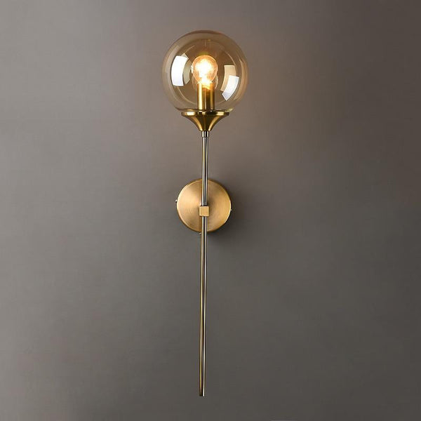 Lights of Scandinavia - Istapp - E14 Modern Nordic LED wall lamps Glass Ball Gold Wall Sconce Indoor Bedroom Bdside Aisle Minimalist Lighting Fixtures Decoration