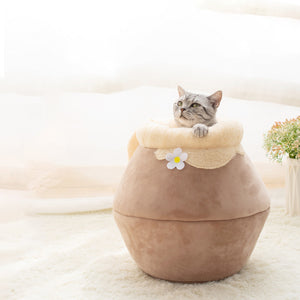 Cat Cave Bed - Honey Pot & Cute Cat Bed