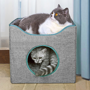 Cat Cave Bed - Cat Box Bed & Cat Cube
