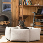 Load image into Gallery viewer, Calming Bolster Dog Bed - Hexagon Calming Dog Bed