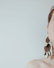 Load image into Gallery viewer, Chocolate Moon Earrings