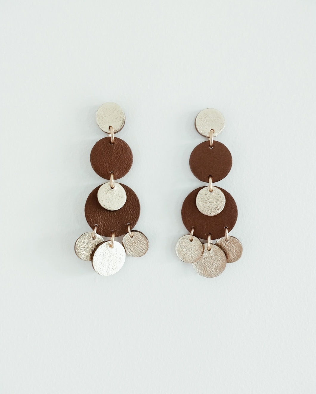 Chocolate Moon Earrings