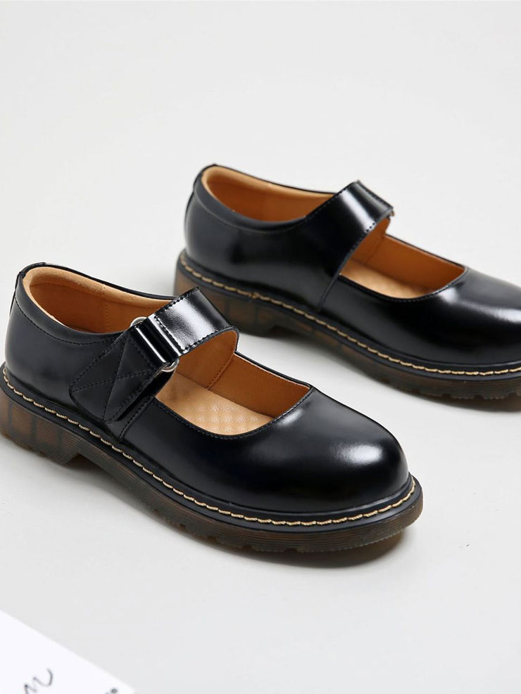 Velcro Round Toe Low Heel Casual Spring Fall Loafers