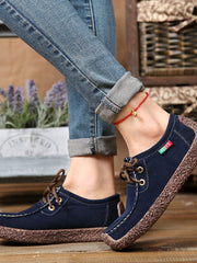 Casual Round Toe Spring Fall Lace Up Flats