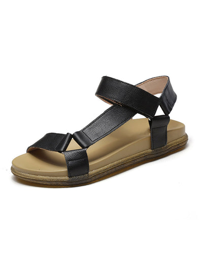 Summer Velcro Mori Girl Casual Round Toe Flat Heel Sandals