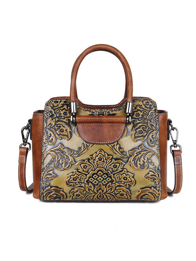 Vintage Brush Off Leather Print Fashion Messenger bag