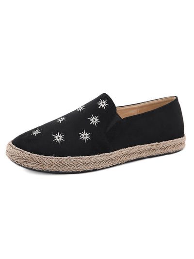 Summer Flower Sweet Daily Casual Slip-On Suede Flats