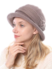 European Wool Flower Jacquard Fashion Winter Hat