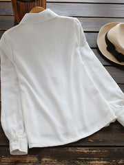 Japanese Peter Pan Collar Spring Summer Bowknot Blouse