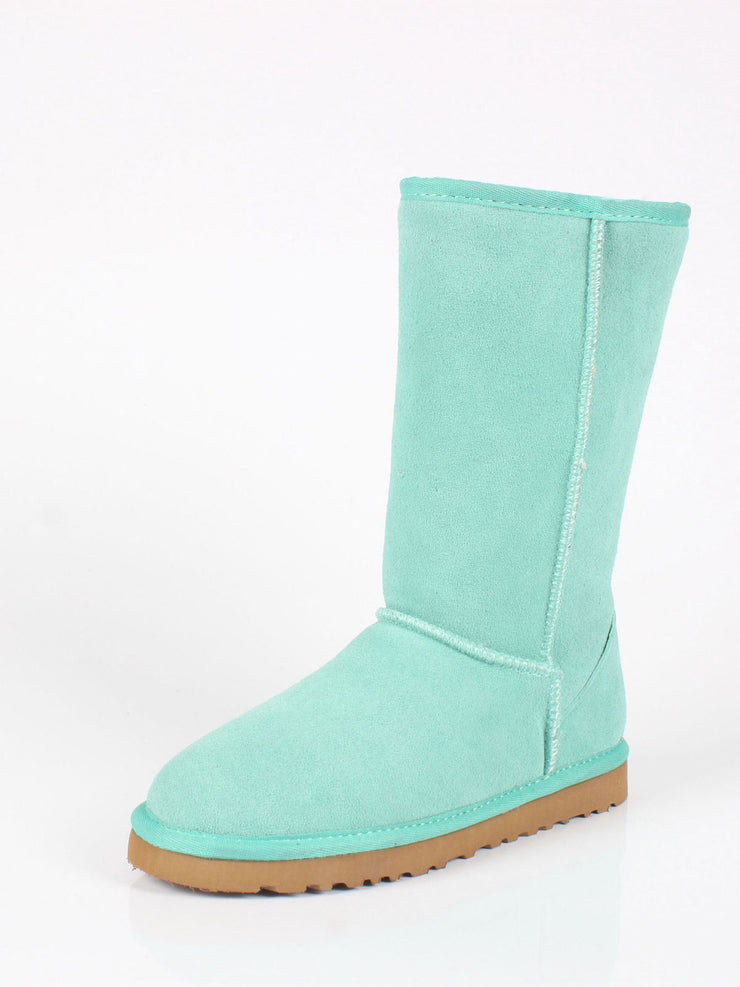 Plain Winter Casual Flat Heel Slip-On Glueing Snow Boots