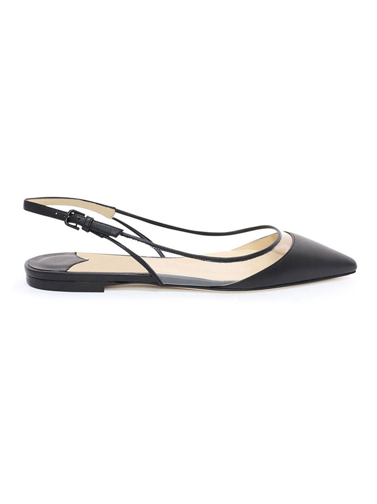 Casual Fall Spring Pointed Toe Flat Heel Professional Leather Flats