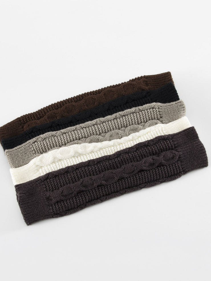 Fleece Winter Knitted Plain European Jacquard Hat