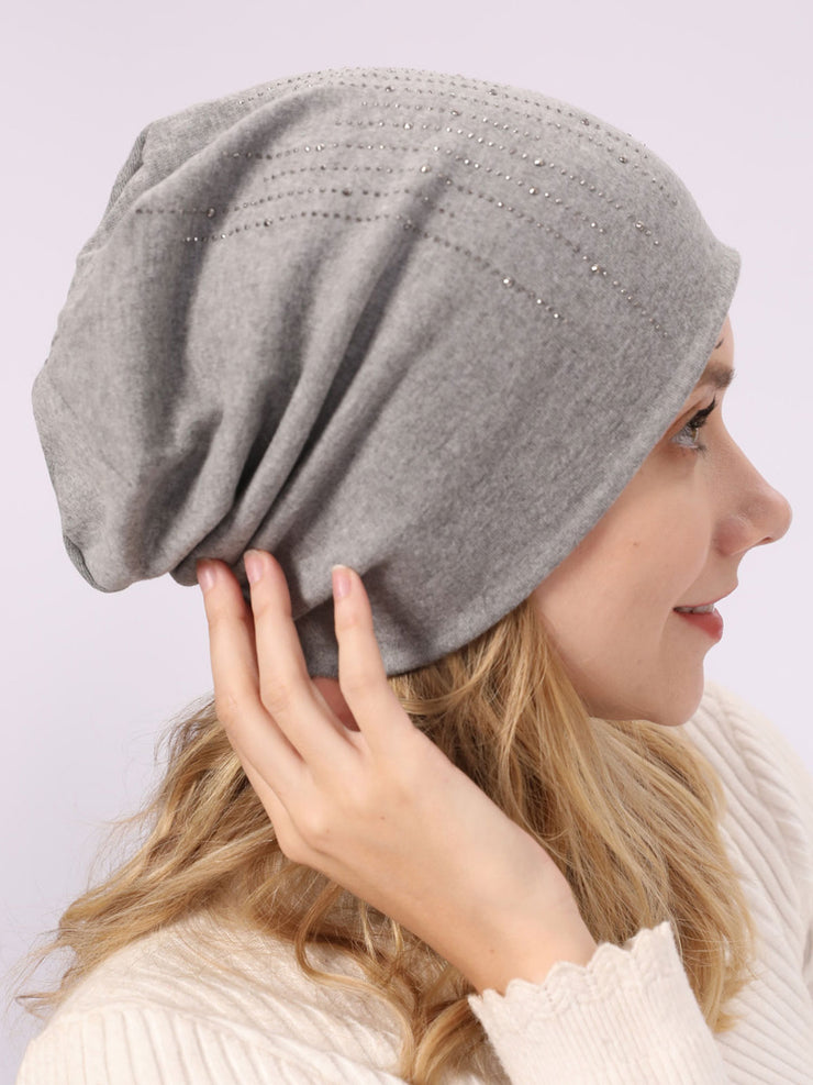 European Hot Drilling Plain Cotton Winter Hat
