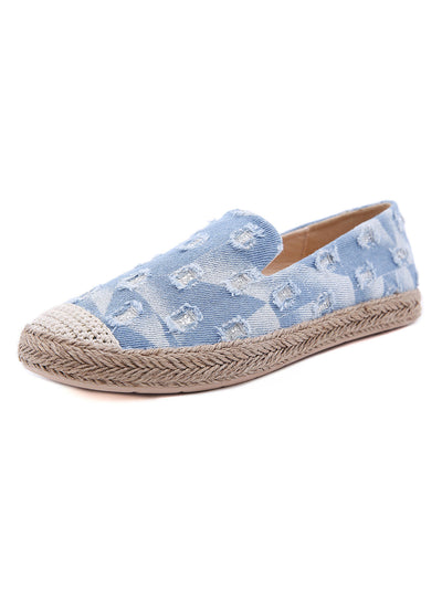 Summer Spring Tassel Casual Slip-On Plain Denim Flats