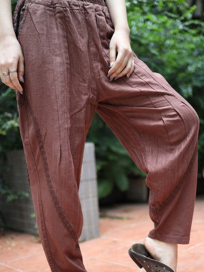 Casual Thin Loose Harem Linen Vintage Fall Spring Pants