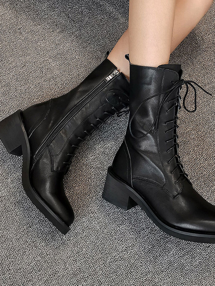 British Leather Martens Fall Winter Platform Boots