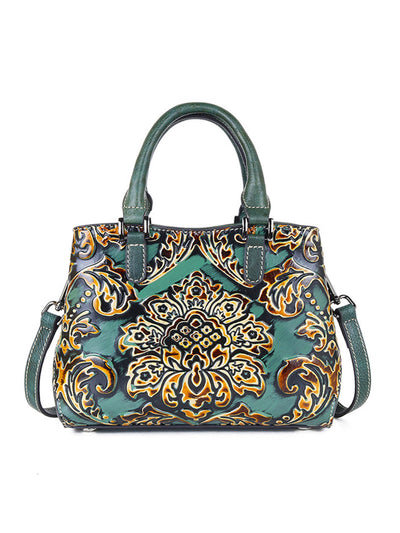 Vintage Handbag Leather Print Fashion Zipper Shoulder Bag