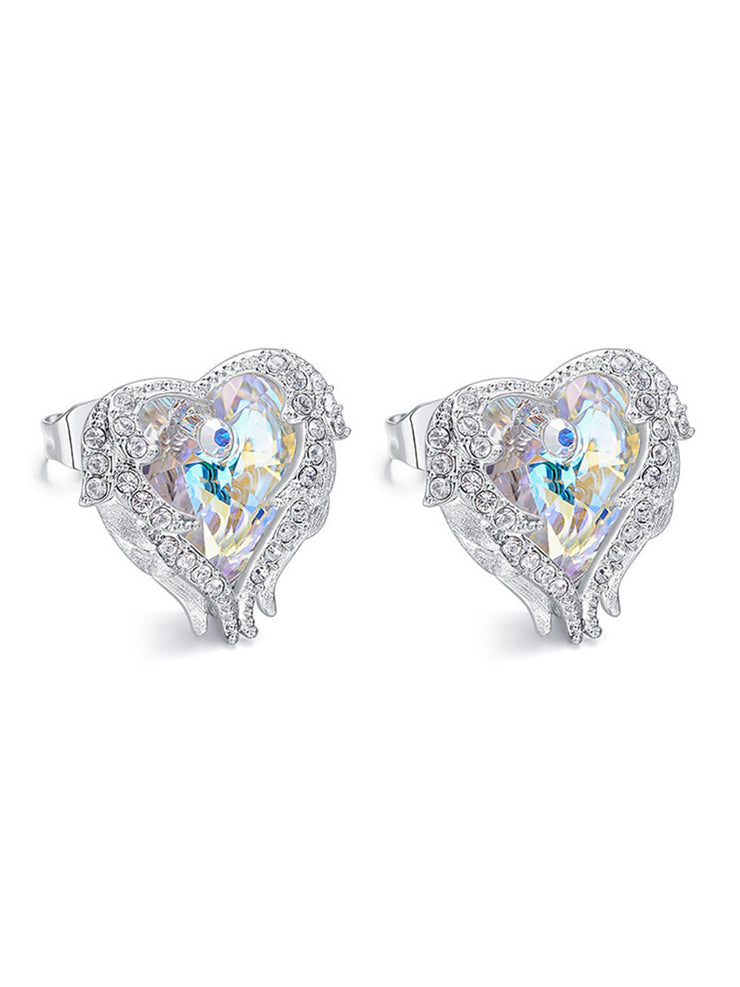 European Guardian Angel Wing Heart Of The Sea Earring
