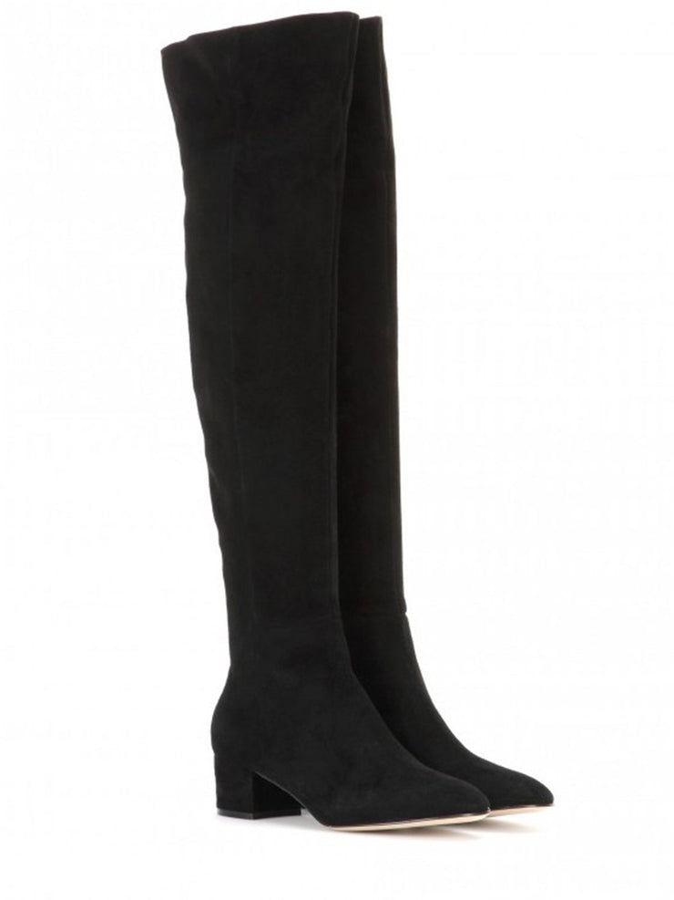 Winter Suede Over-the-Knee Mid-Heel Fashion Boots