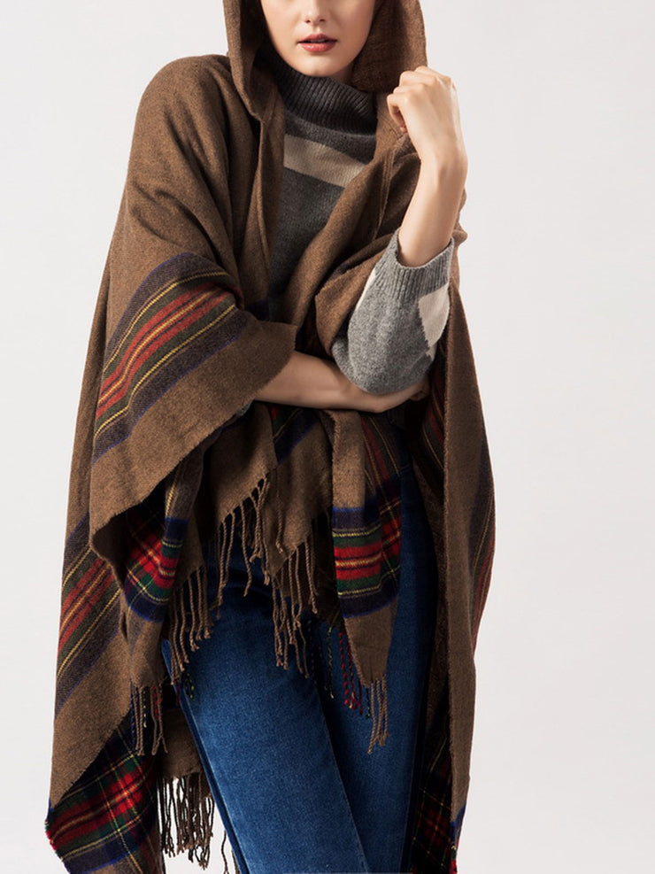 Spring Fall Cape Fleece Fashion Geometric Shawl Scarf