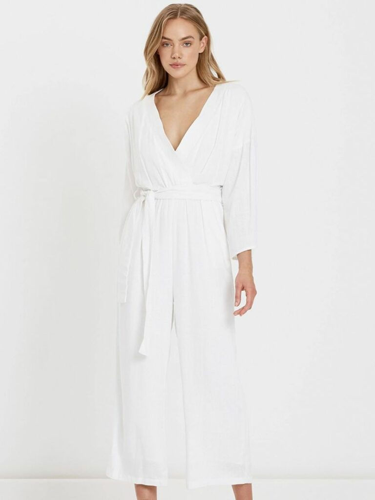 FLEUR JUMPSUIT WHITE by CHARLIE HOLIDAY