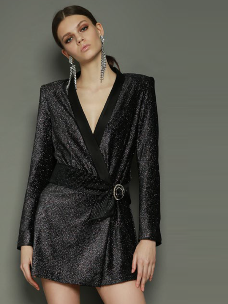 BELLA BLAZER DRESS BLACK by BRONX AND BANCO