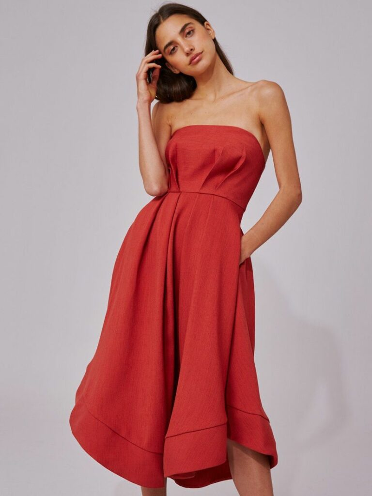 VIBRANT DRESS ROSEWOOD by C/MEO COLLECTIVE