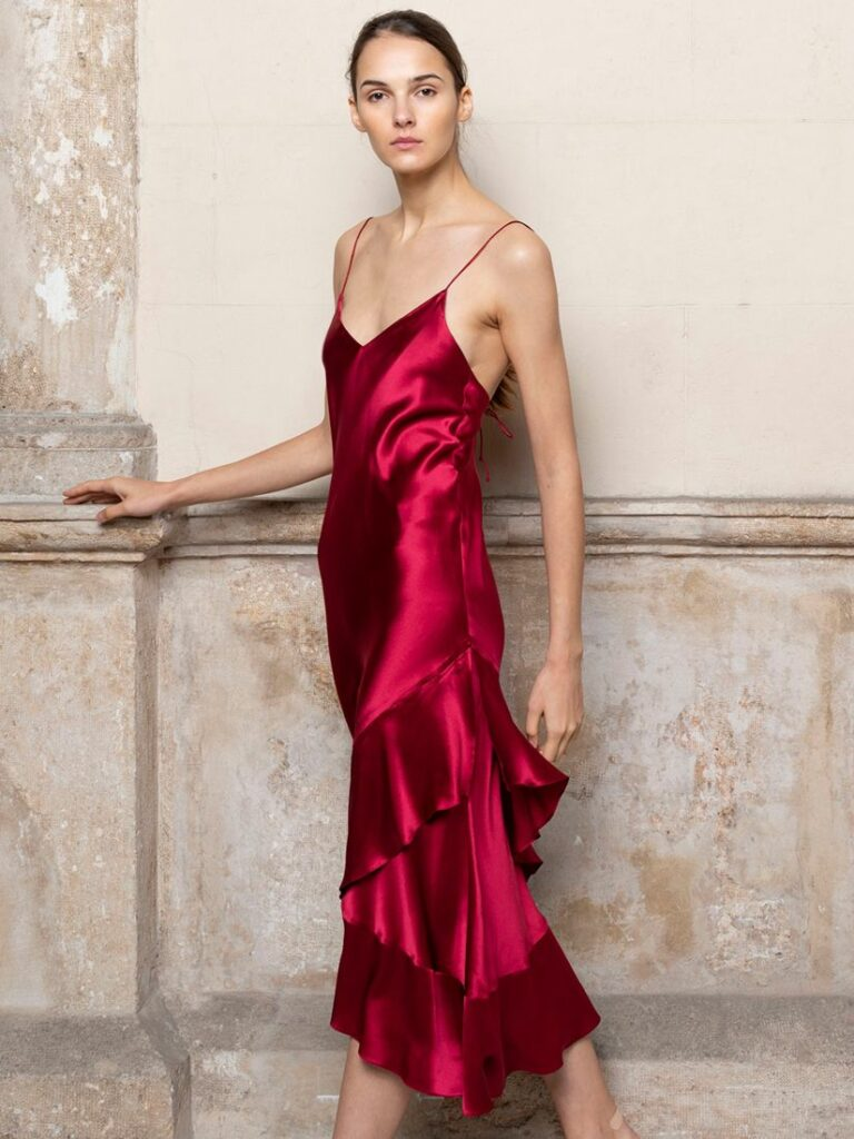 CARMEN DRESS DEEP RED by ADRIANA IGLESIAS