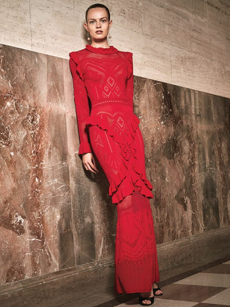 CEECEE KNIT GOWN RED by ALEXIS