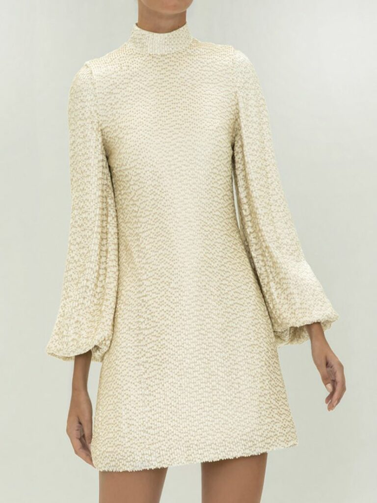 LUNIA SEQUIN DRESS IVORY by ALEXIS