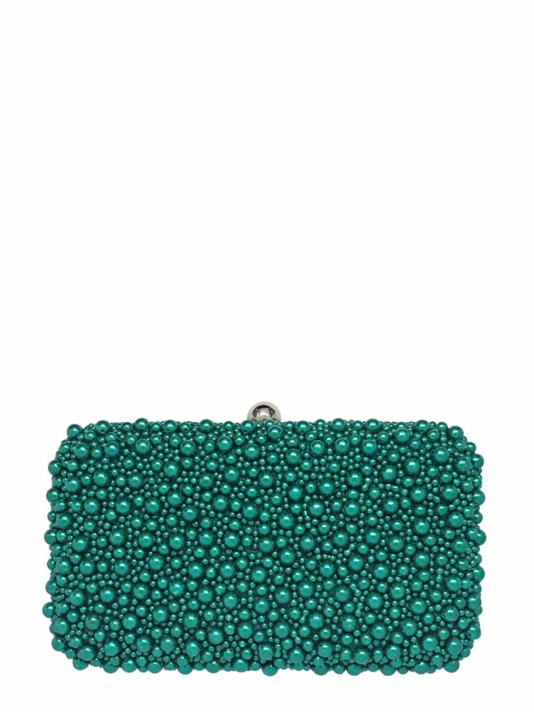 MARCELA BOX CLUTCH EMERALD GREEN by FROM ST XAVIER