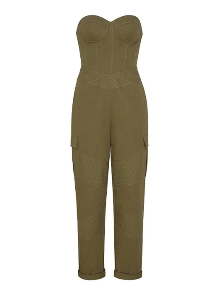 NOA JUMPSUIT ARMY GREEN by RETROFETE