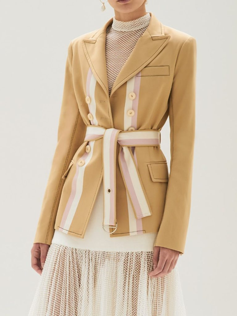 NOURDINE BLAZER STRIPED TAN by ALEXIS