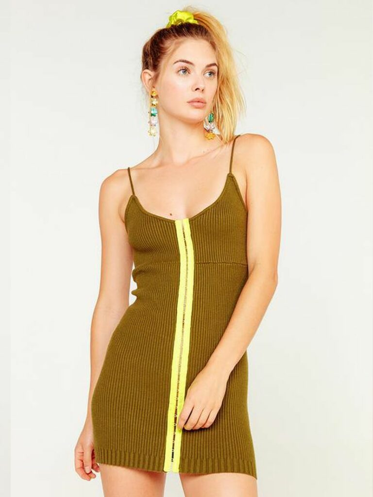 PAIGE HOOK AND EYE DRESS OLIVE by FOR LOVE AND LEMONS