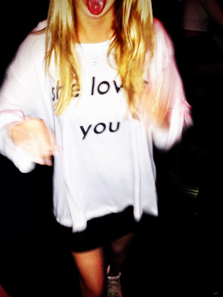 WILDFOX Couture She Loves You Rainy Beachouse T