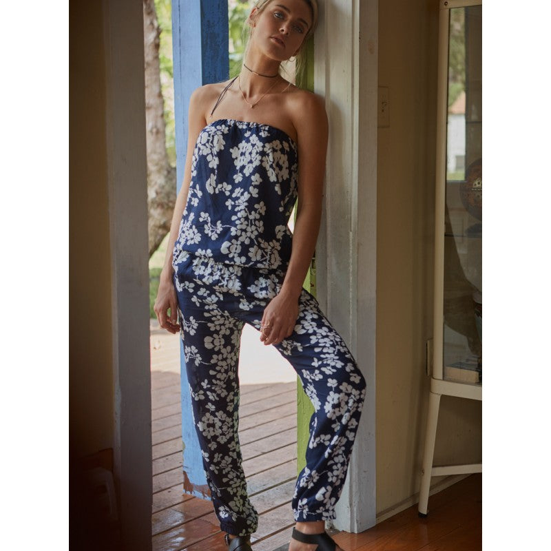 star-mela-clothing-loti-jumpsuit-navy-floral-strapless