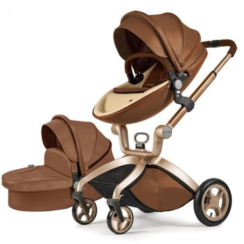 dark-brown-baby-stroller