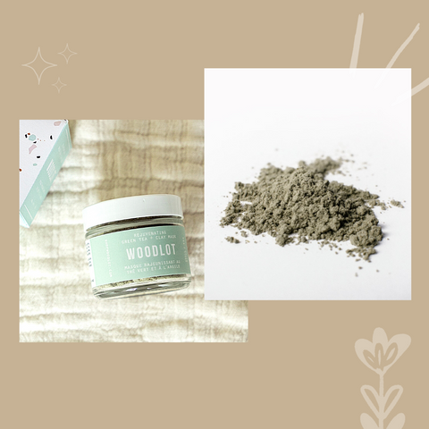 Green Tea Clay Mask by Woodlot. Photo by Ohla Box.