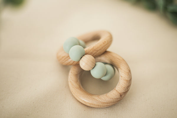Baby Rattle Teether by Tiny Teethers