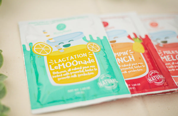 Lactation Drink Mix by Milky Mama Canada, 3 pouches