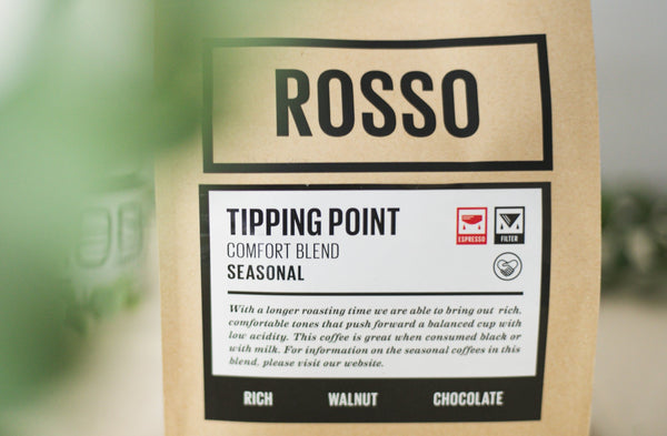 Tipping Point Coffee Beans by Rosso