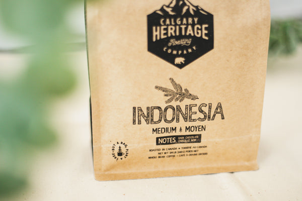 Indonesia Coffee Beans By Calgary Heritage Roasting Co.