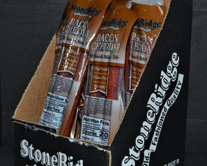 Bacon and Cheddar Sticks - Caddy (2 oz, 24 ct) - StoneRidge Meats