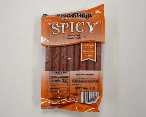 Spicy Sticks (16 oz/sticks) - StoneRidge Meats