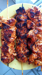 Quick and easy chicken tikka masala kebabs