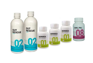 January special: 2 Gut Rescue, 3 moringa and 1 Chill Pill
