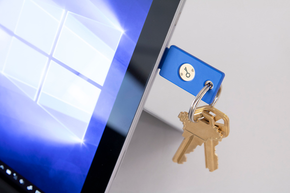Security Key by Yubico on Keyring with Surface Pro