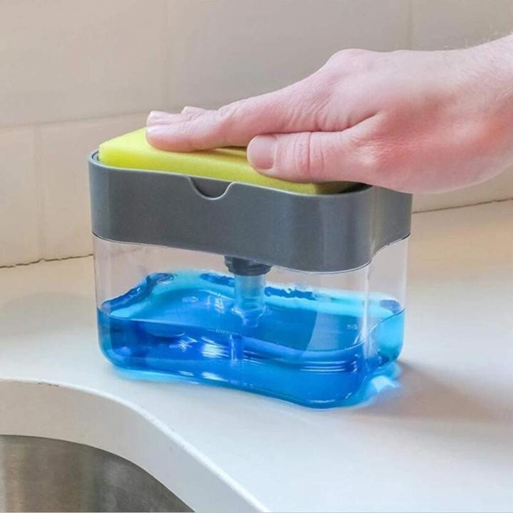 Liquid Soap Pump Dispenser & Sponge holder